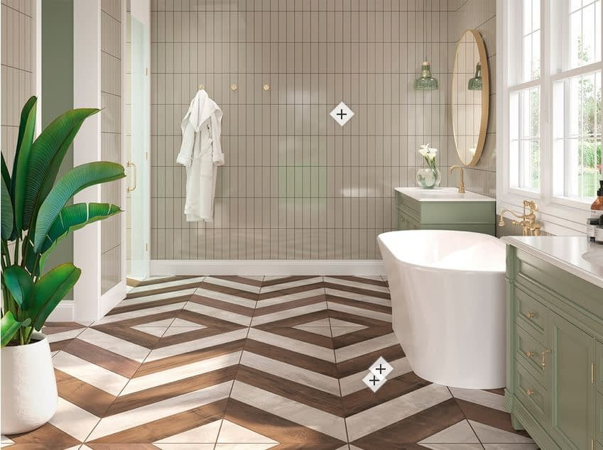 Multiple bathrooms featuring IC Tile